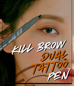 GET TEMPORARY BROWS WITH THE CLIO<span>KILL BROW DUAL TATTOO PEN</span>