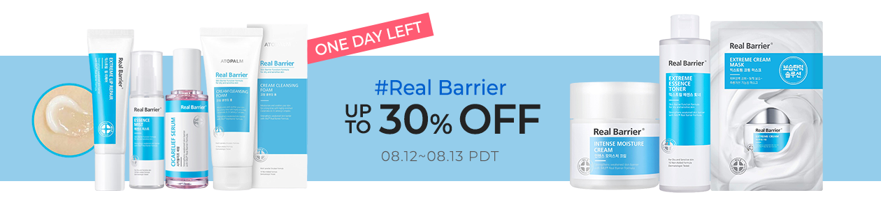Real Barrier Up to 30% OFF
