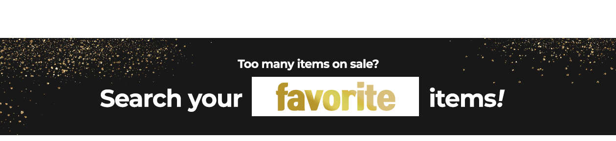 Too many items on sale?