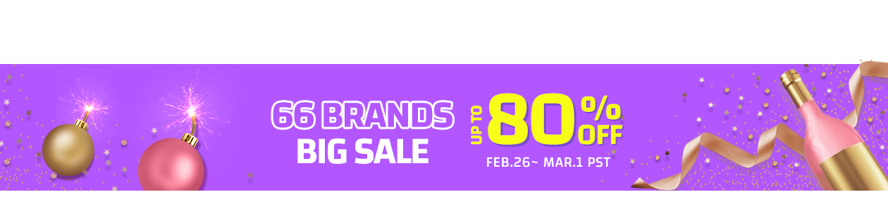66brands up to 80% OFF