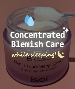Concentrated blemish care while sleeping🌙<span>Isoi Bulgarian Rose Blemish Care Sleeping Pack</span>
