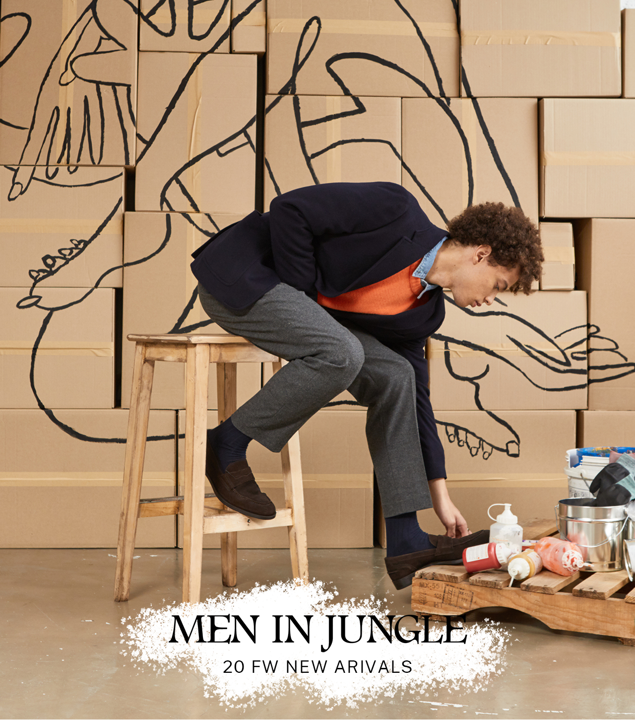 Men in jungle