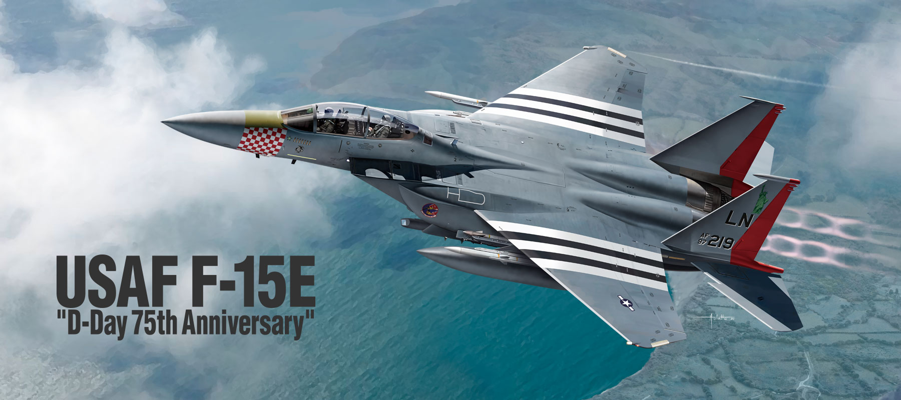 12568 USAF F-15E D-Day 75th Anniversary