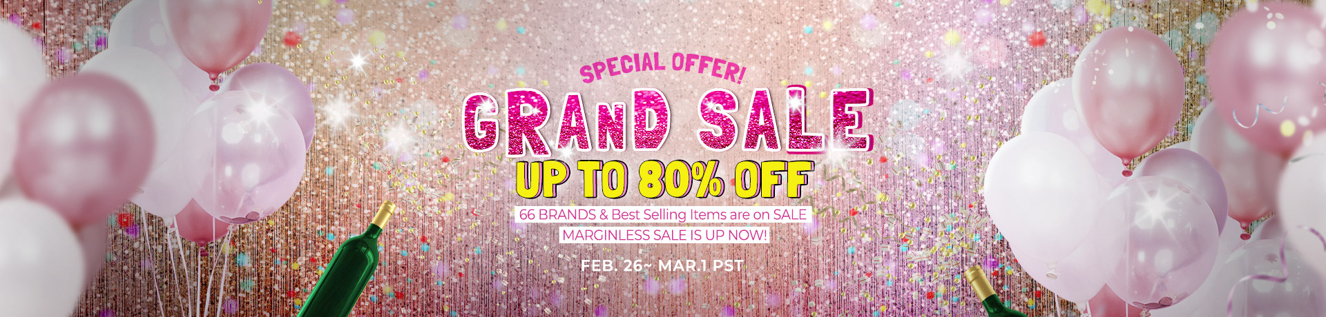 SPECIAL OFFER! GRAND SALE UP TO 80% OFF
