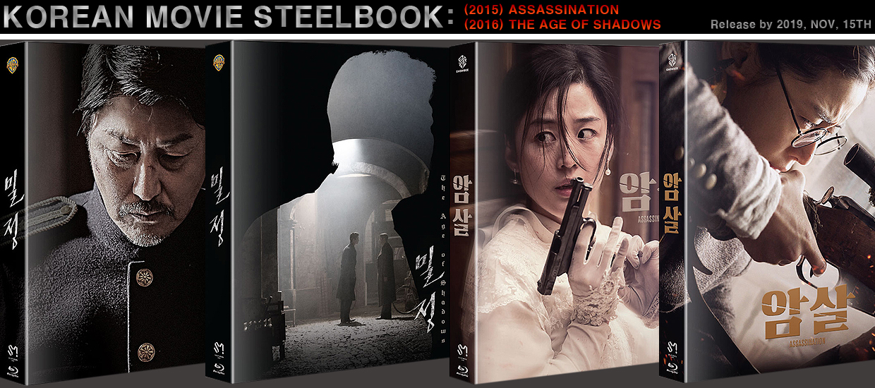 Korean Movies (THE AGE OF SHADOWS) & (ASSASSINATION) STEELBOOK