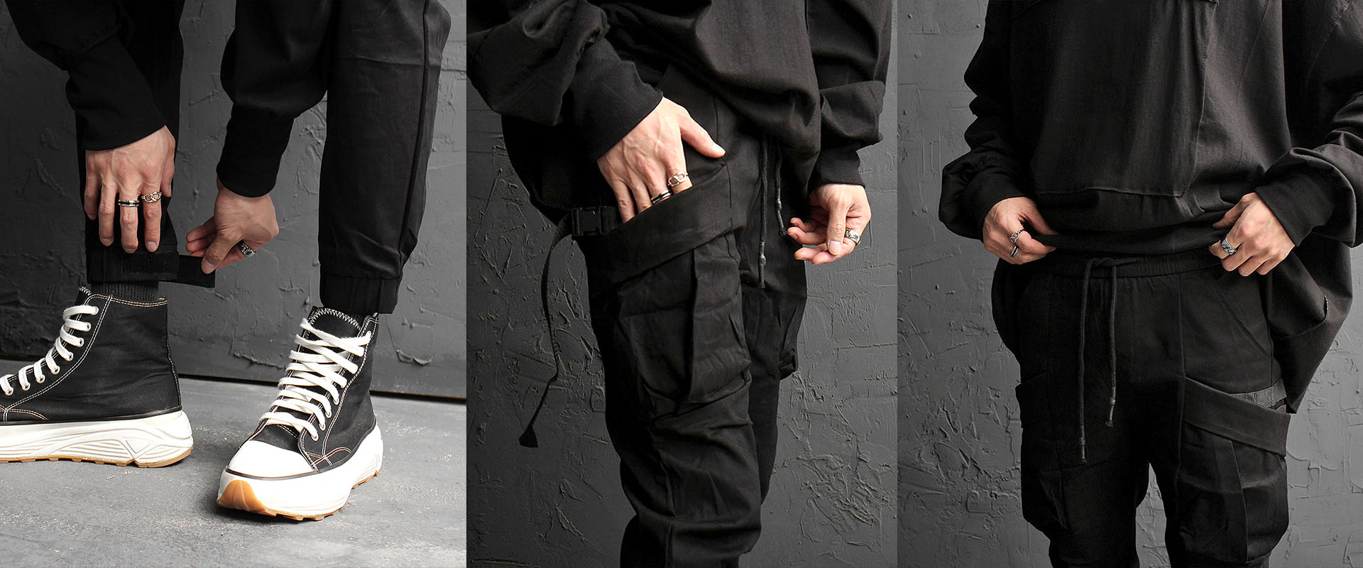 Slim Fit Elastic Waistband Cargo Joggers 870